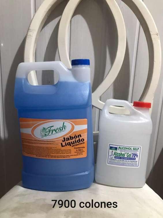 Venta de jabon liquido y alcohol en gel