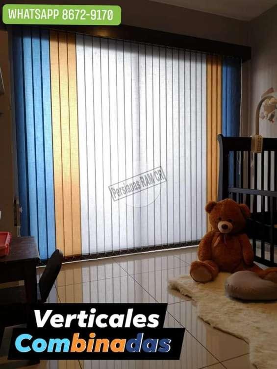 Persianas verticales en pvc y tela